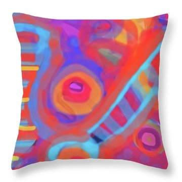 Throw Pillow featuring the painting Juicy Colored Abstract by Susan Stone