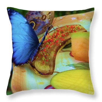Juicy Fruit Throw Pillow by Debbi Granruth