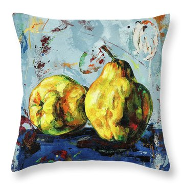 Juicy Quinces Throw Pillow