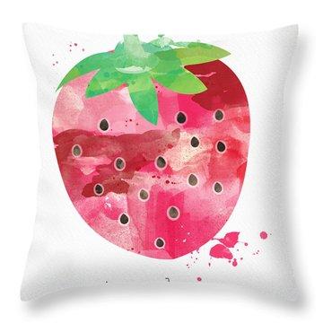 Juicy Strawberry Throw Pillow