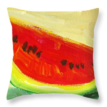 Juicy Watermelon - Kitchen Decor Modern Art Throw Pillow