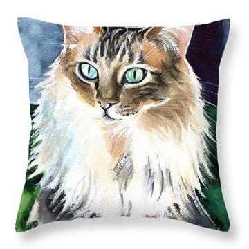 Juju - Cashmere Bengal Cat Painting Throw Pillow