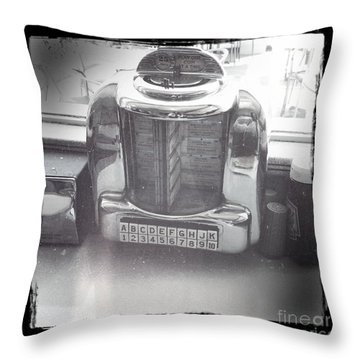 Juke Box Throw Pillow by Nina Prommer