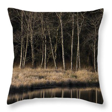 Julia Butler Hansen Refuge For The Columbian White-tailed Deer Throw Pillow