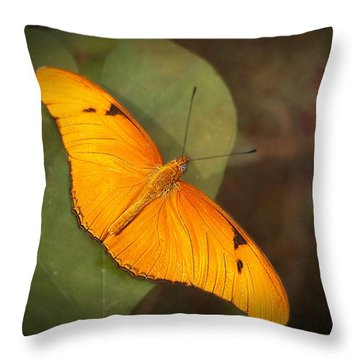 Julia Dryas Butterfly-2 Throw Pillow