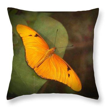 Julia Dryas Butterfly-2 Throw Pillow