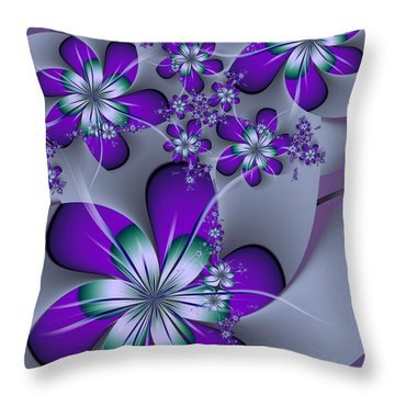 Julia The Florist Throw Pillow by Michelle H