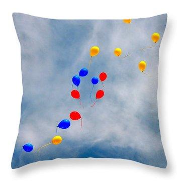 Julian Assange Balloons Throw Pillow
