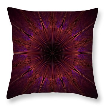 The Violet Blessings Of The Crown Chakra Throw Pillow