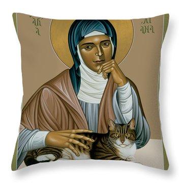 Julian Of Norwich - Rljon Throw Pillow