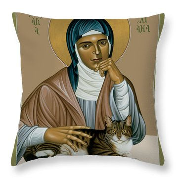 Julian Of Norwich - Rljon Throw Pillow