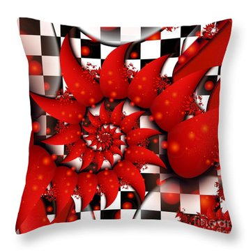 Julias Summer Red Throw Pillow