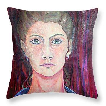 Julie Self Portrait Throw Pillow