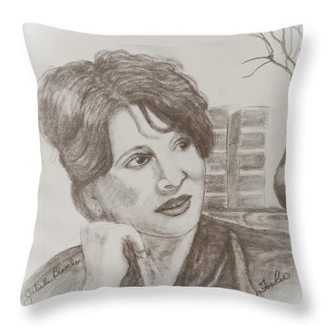 Juliette Binoche Throw Pillow