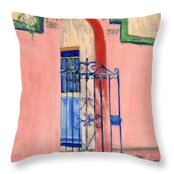Juliette Low Garden Gate Savannah Throw Pillow