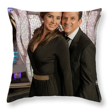 Julio Y Dianita Throw Pillow