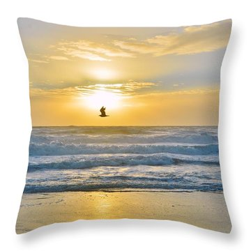 July 30 Sunrise Nh Throw Pillow