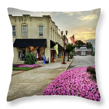 Throw Pillow featuring the photograph July 4th In Murphy North Carolina by Greg Mimbs