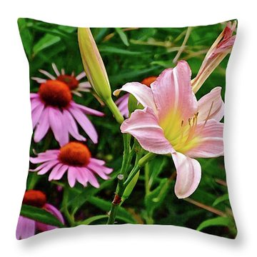 July Lily #10 Throw Pillow