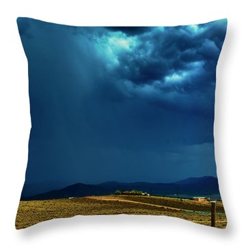 July Monsoons Throw Pillow