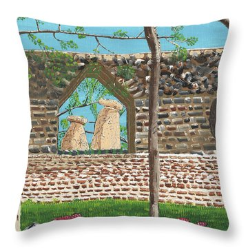 July  Portal Of Enlightenment Throw Pillow