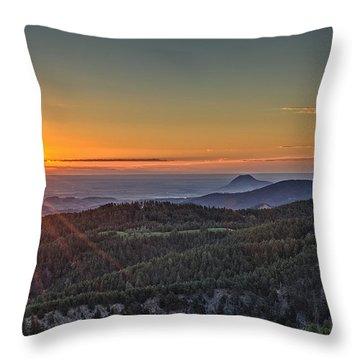 July Sunrise Throw Pillow