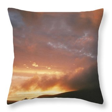 July Sunset Throw Pillow