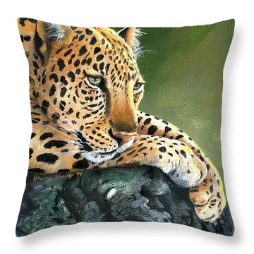 Throw Pillow featuring the painting Jumanji by Sherry Shipley
