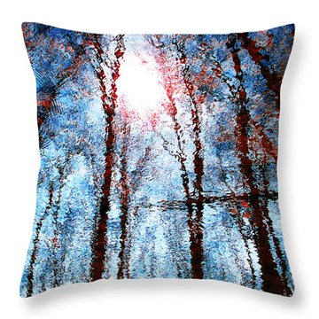 Jumbled Waters Throw Pillow