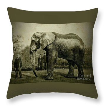 Jumbo The Elepant Circa 1890 Throw Pillow