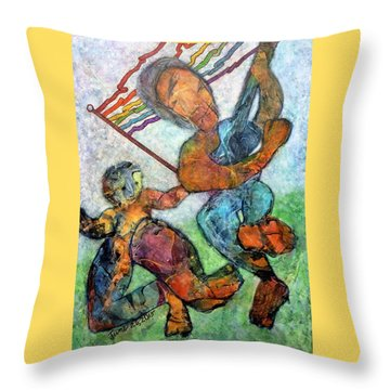 Jump For Joy Throw Pillow