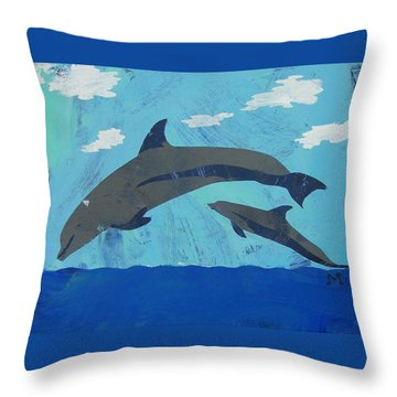 Throw Pillow featuring the painting Jump For Joy by Candace Shrope
