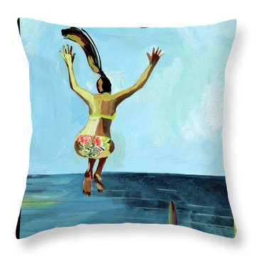 Jump Throw Pillow
