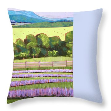 Lavender Fields At Tantivy Throw Pillow