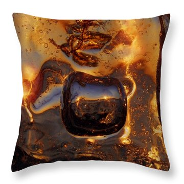 Jump Throw Pillow by Sami Tiainen