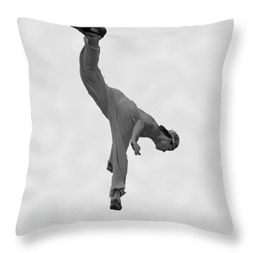 Jumping Man Throw Pillow