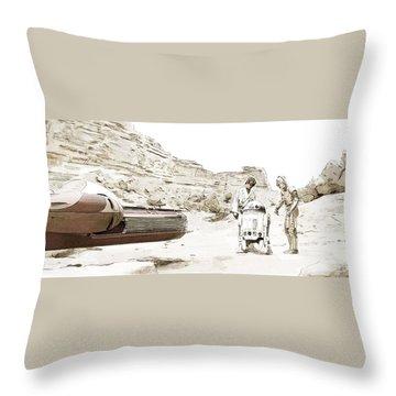 Jundland Wastes Throw Pillow by Kurt Ramschissel