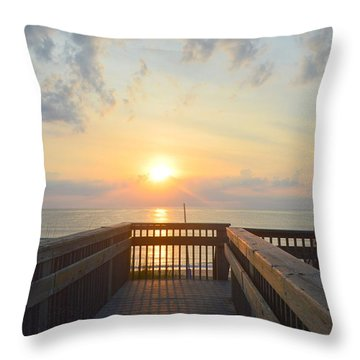Throw Pillow featuring the photograph June 17th Sunrise by Barbara Ann Bell