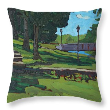 June Afternoon At Chaffeys Throw Pillow