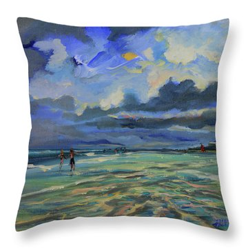 June Afternoon Tidepool Throw Pillow
