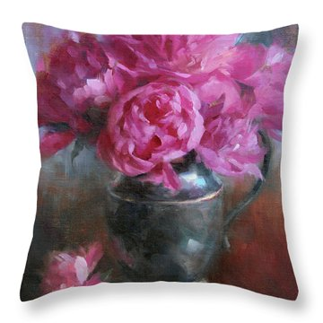 Peonies Throw Pillows