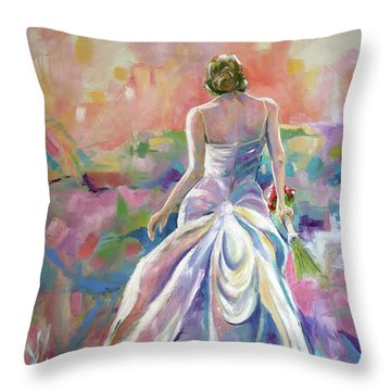 June Bride Throw Pillow