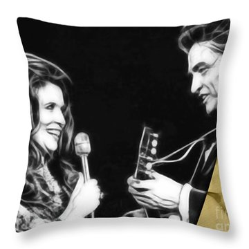 June Carter And Johnny Cash Collection Throw Pillow by Marvin Blaine