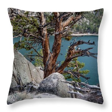 June Lake Juniper Throw Pillow