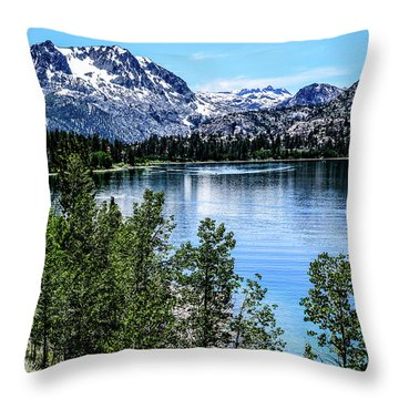 June Lake Portrait Throw Pillow