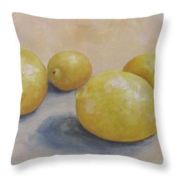 June Lemons Throw Pillow