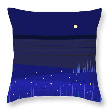 June Nights   Throw Pillow