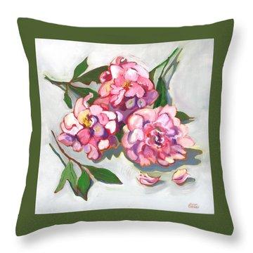 June Peonies Throw Pillow