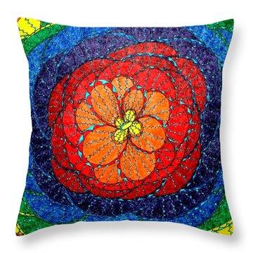 June Romance Throw Pillow