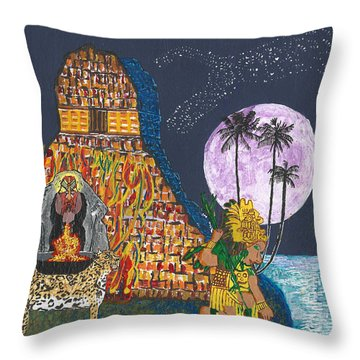 June  Shaman And Priestess  Throw Pillow